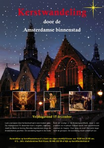 digitale flyer Kerstwandeling hartje Amsterdam 15 dec 2017