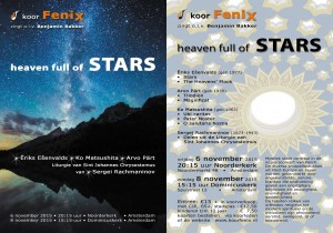 flyer 'heaven full of Stars'.
