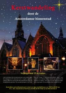 digitale flyer Kerstwandeling hartje Amsterdam 15 dec 2017